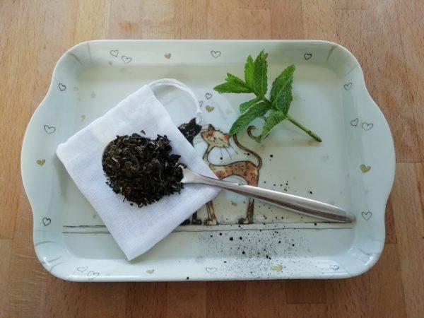 sachet de thé lavable