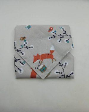 sac à sandwich réutilisable en coton et tissu