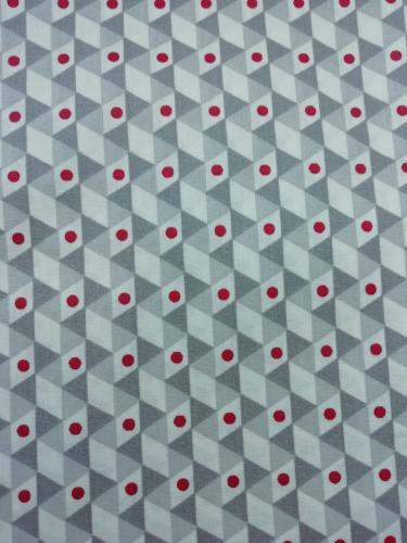 Géométrique gris et rouge