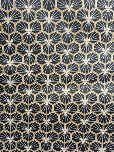 Géométrique noir et or