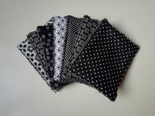 7 Lingettes Noir et blanc