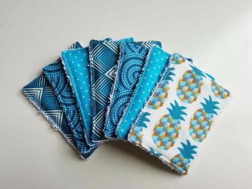 7 Lingettes Mélange bleu